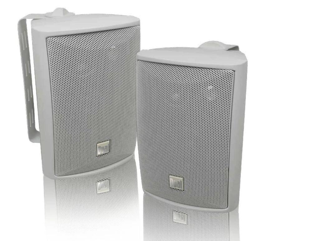 Dual Electronics LU43PW 3-Way High Performance Outdoor Indoor Speakers