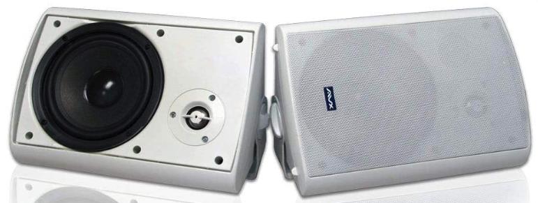 """AVX Audio 6.5"""" Outdoor Weatherproof Patio Speaker Pair"""