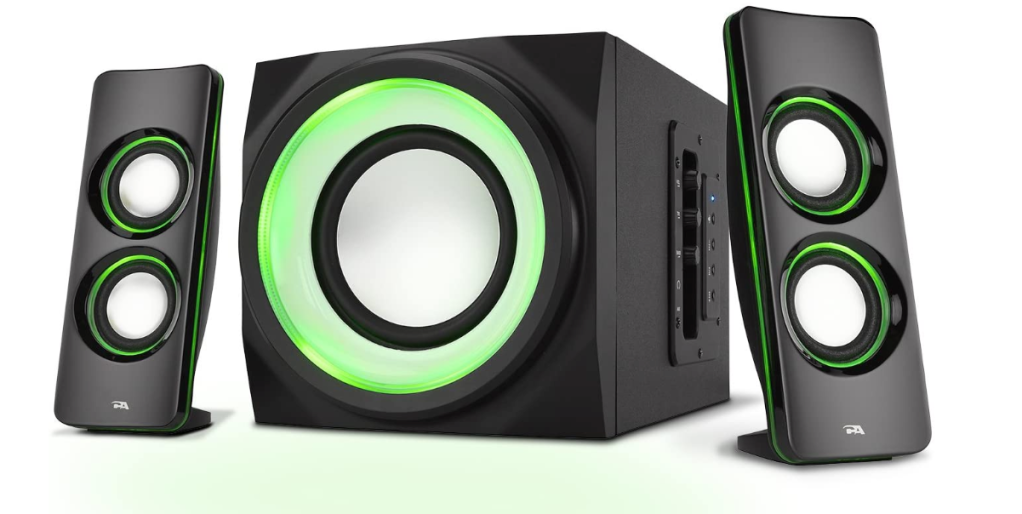Cyber Acoustics Bluetooth Speakers with LED Lights