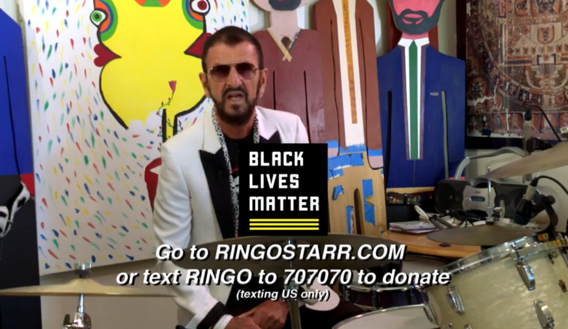 Ringo Starr Celebrates His 80th Birthday with Peace, Love, and Black Lives Matter - Rolling Stone