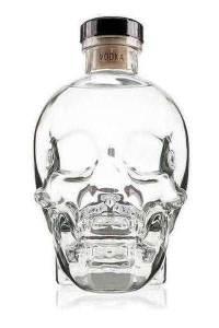 skull vodka crystal head
