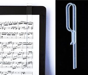 clear music page holder