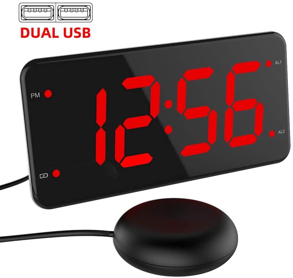 extra loud alarm clock shaker