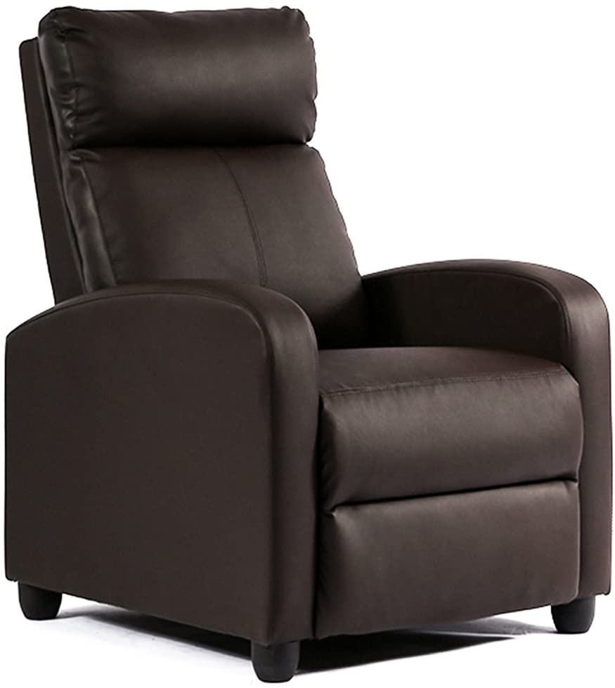 fdw reclining leather chair