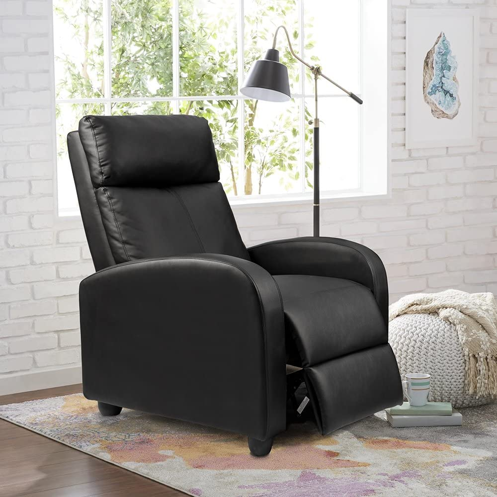 homall recliner leather padded seat