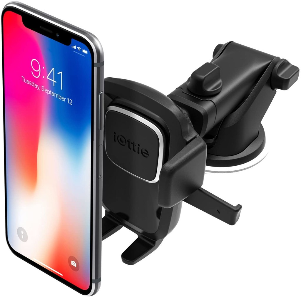 easy one touch suction car phone mount