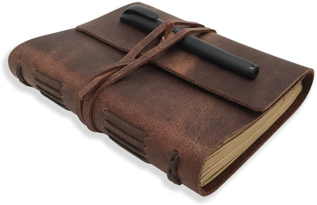 leather bound daily notebook