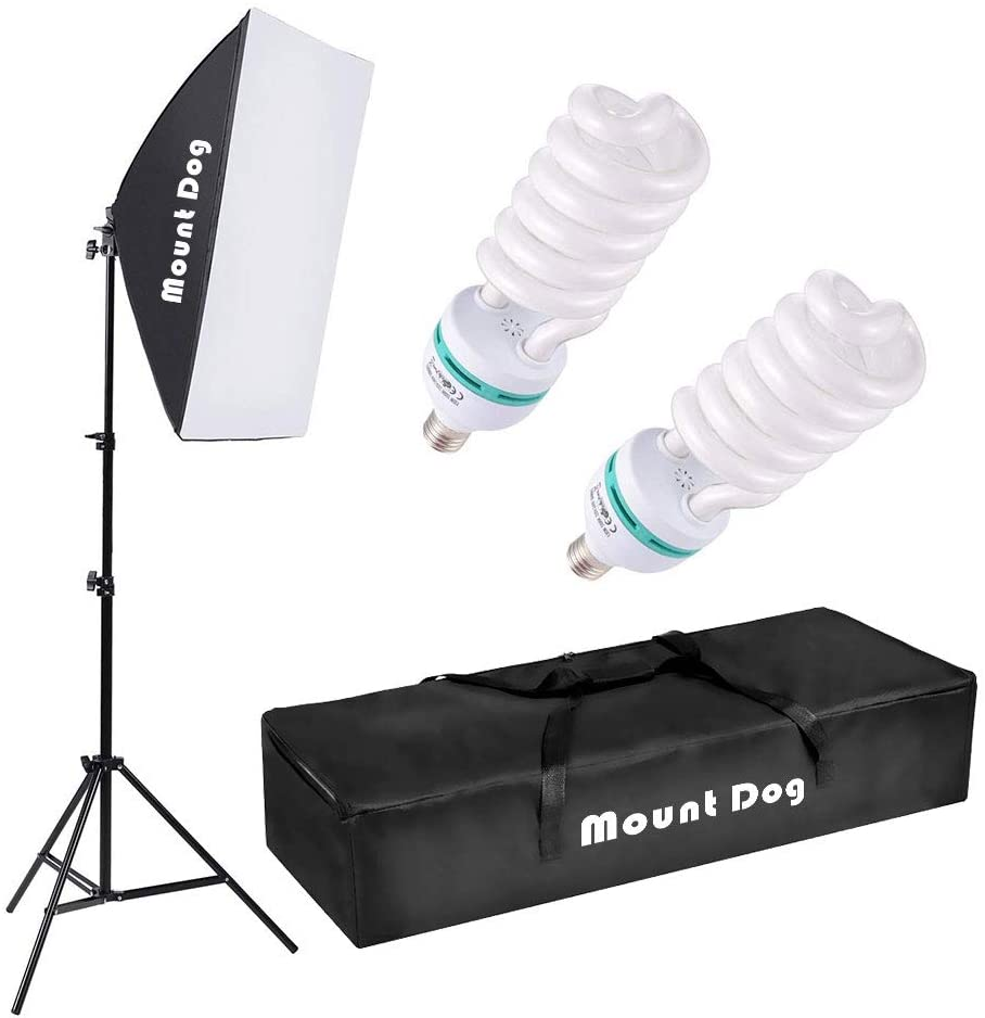 mountdog professional softbox lighting kit