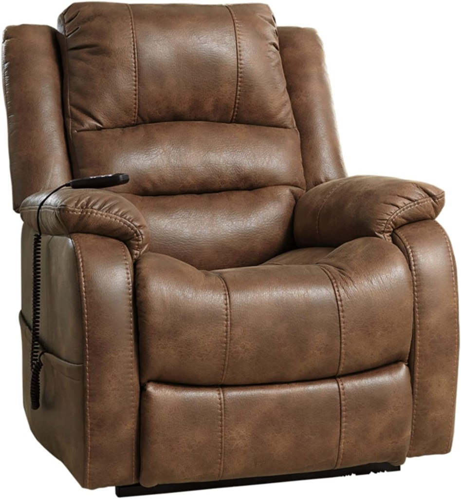 oversized leather recliner lift