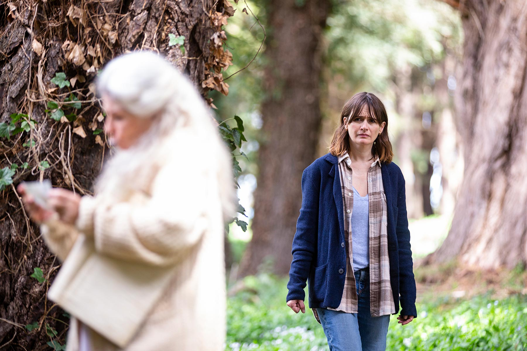 Robyn Nevin and Emily Mortimer in 'Relic.'