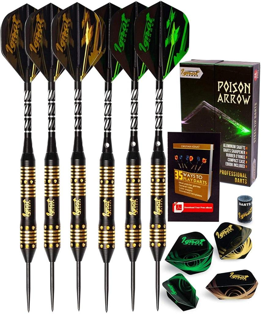 ignatgames steel tip darts set