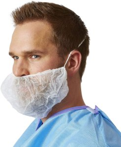 100 disposable beard cover white