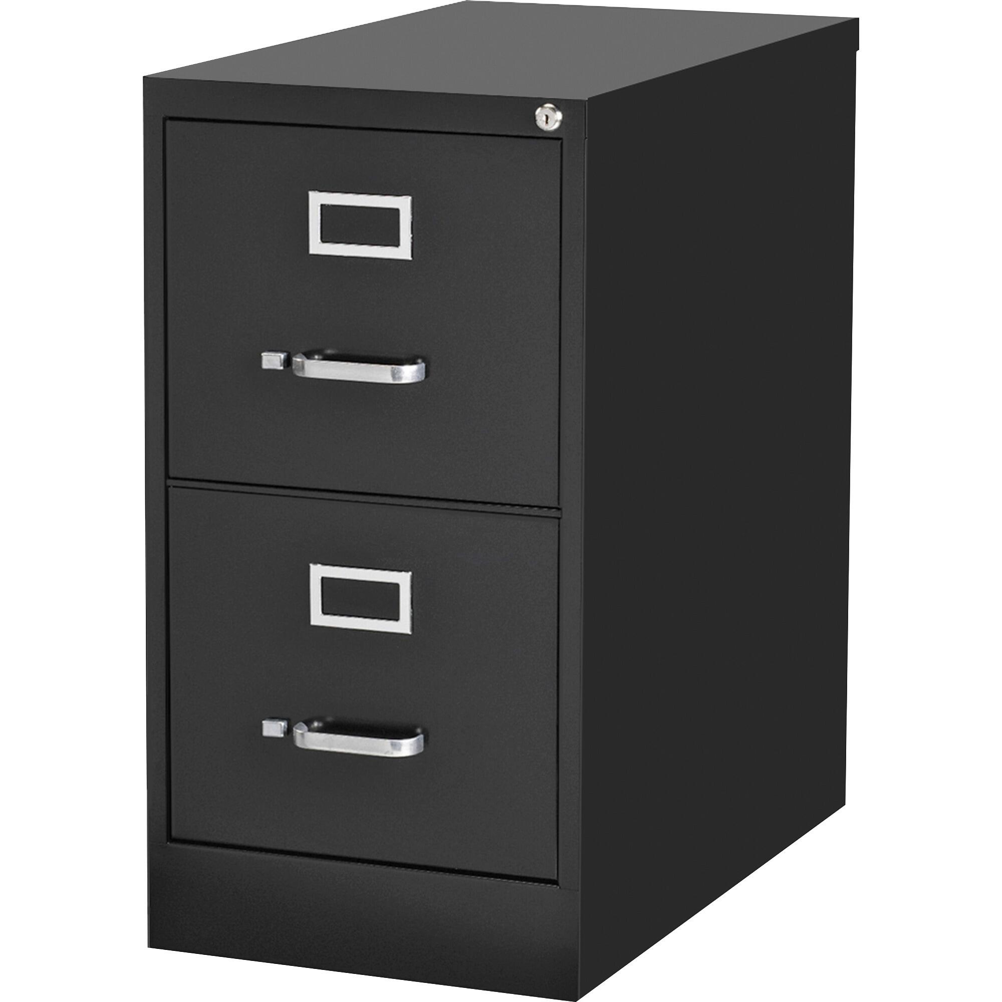 Lorell 2-Drawer Black Commercial-grade Vertical Filing Cabinet
