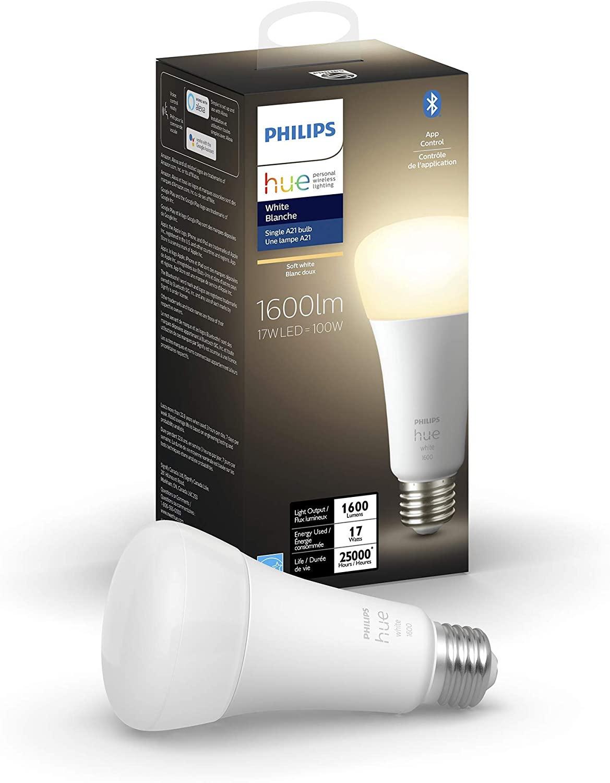 Philips Hue White Smart Light Bulb