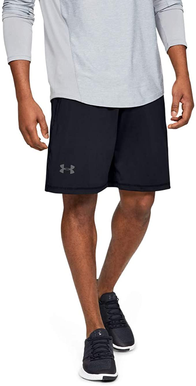 black workout shorts under armour