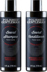 beard shampoo conditioner polished gentleman