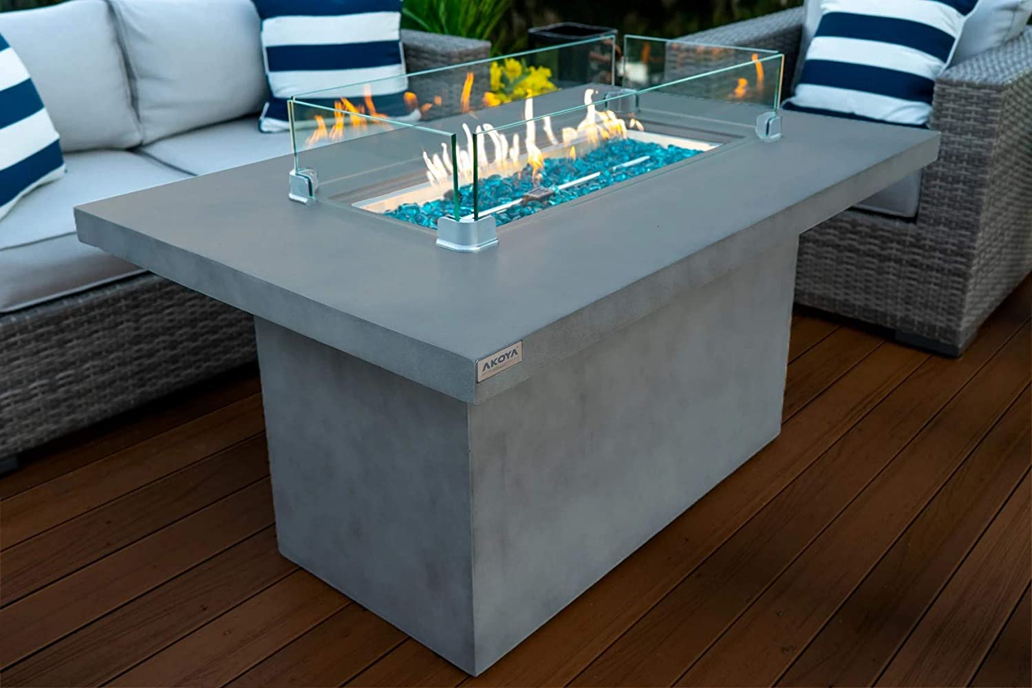 AKOYA Outdoor Essentials Concrete Fire Table