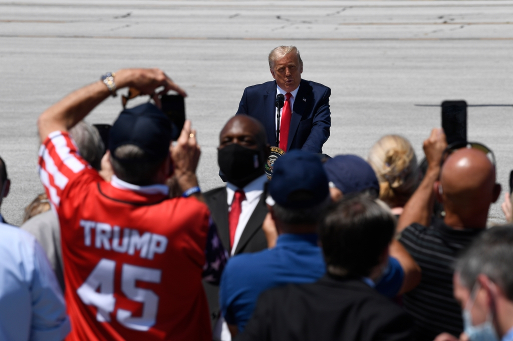 In a Desperate Rant, Trump Nonsensically Says Biden Will 'Hurt God, Hurt the Bible'