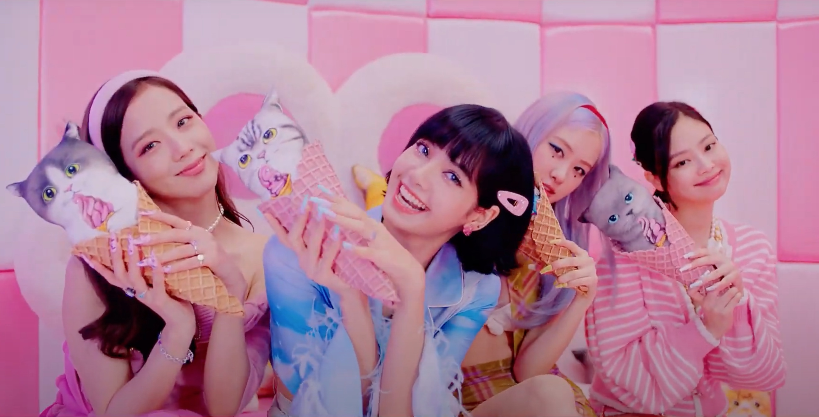 Blackpink, Selena Gomez Hang Out in a Pastel, 'Ice Cream'-Filled World in Flirty New Video thumbnail