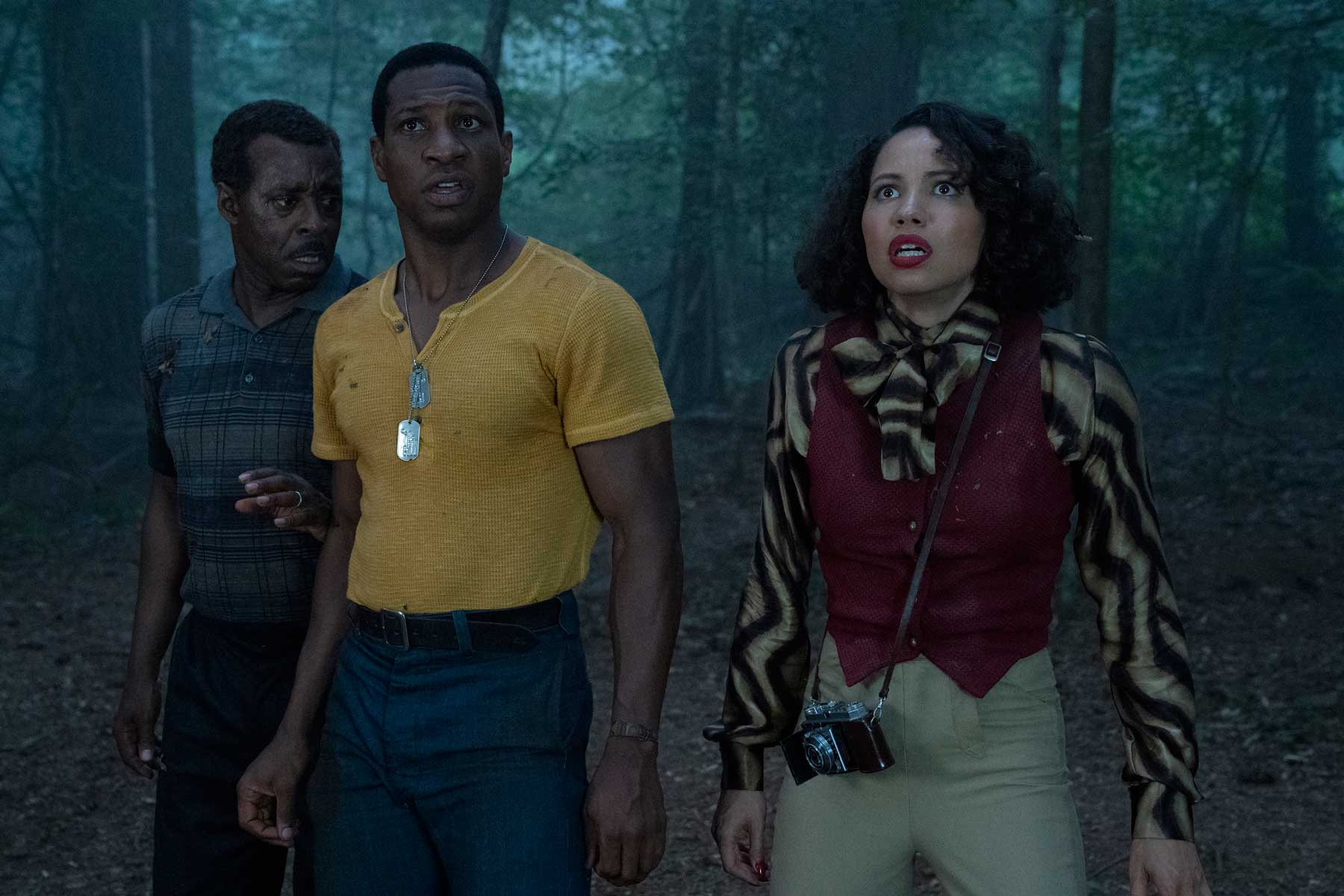 Courtney B.Vance, Jonathan Majors, and Jurnee Smollett in 'Lovecraft Country.'