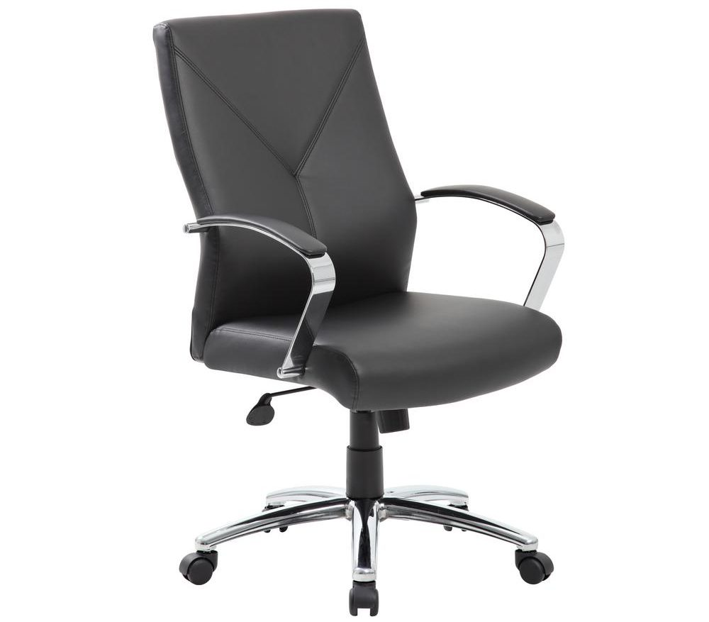 BOSS OFFICE Black LeatherPlus Executive Chair