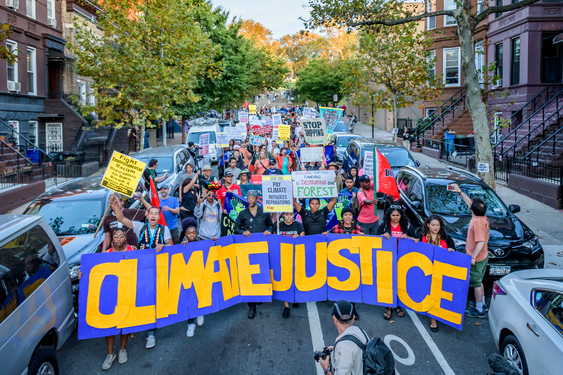 Activist group Earth Strike NYC announced a radical frontline coalition gathering in Sunset Park to support UPROSE in its campaign for local community-led climate justice at the Communities Strike For Climate Over Colonialism rally and march on September 27th, 2019 in Brooklyn, NY.