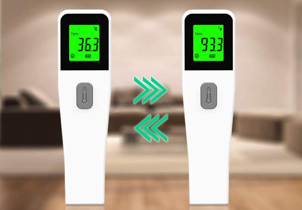 Lesparty Non Contact Forehead Infrared LED Digital Body Temperature Fever Measurement Tool
