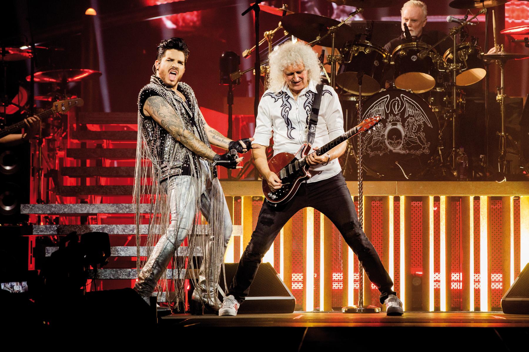Resultado de imagen de queen + adam lambert live around the world