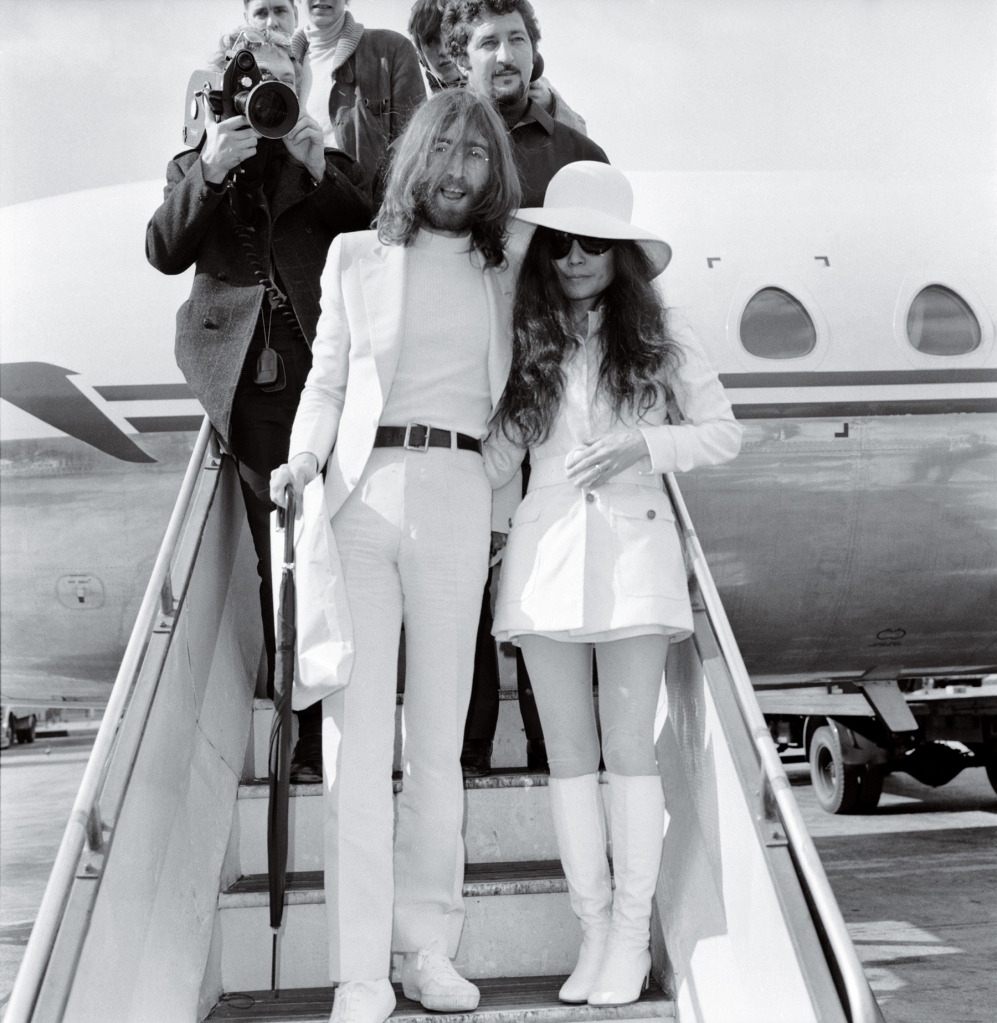 BALLAD OF JOHN AND YOKO Lennon and Ono leaving Gibraltar after getting married. John adopted Yoko's name, becoming John Ono Lennon — a radical step in 1969.