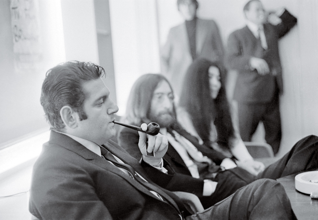 "MONEYMAN Lennon and Ono with Allen Klein in 1969. Klein had spent years in the business, developing an unsavory reputation, but he won Lennon over immediately. McCartney was much more skeptical: ""He's not good enough."""