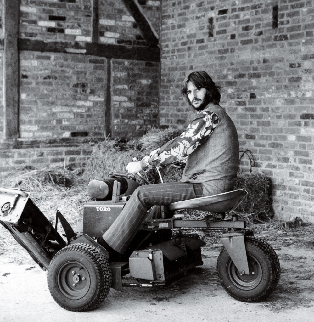 Archive images of Beatles drummer Ringo Starr at his Brookfields Estate in Surrey. He put it up for sale in 1969, a year after purchasing it.