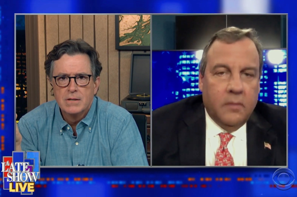 Stephen Colbert Grills Chris Christie on Involvement With Trump Campaign