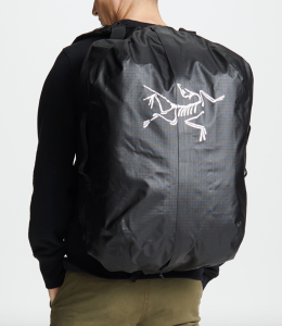Black backpack waterproof arcteryx