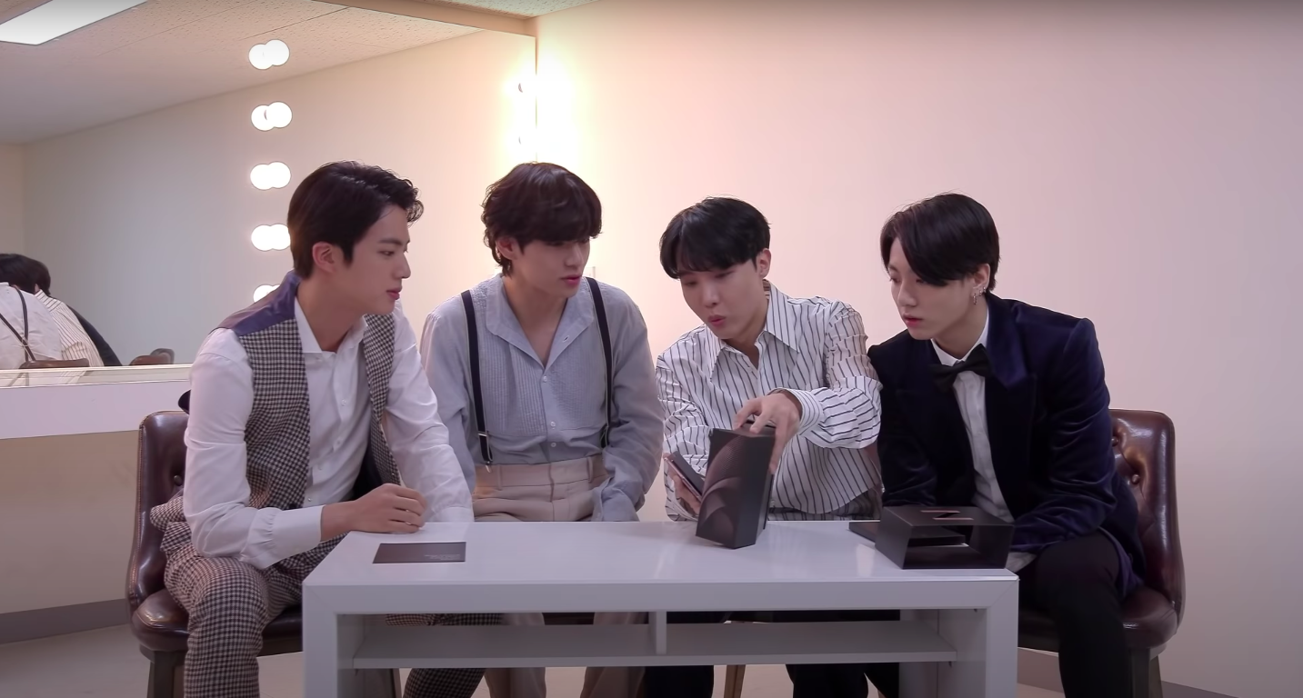 Video Bts Unboxes Samsung Galaxy Z Fold2 Phone In Surprise Appearance Rolling Stone
