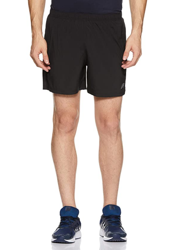 black running shorts men's new balance