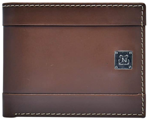 brown leather wallet nautica