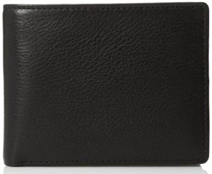 black leather wallet men's
