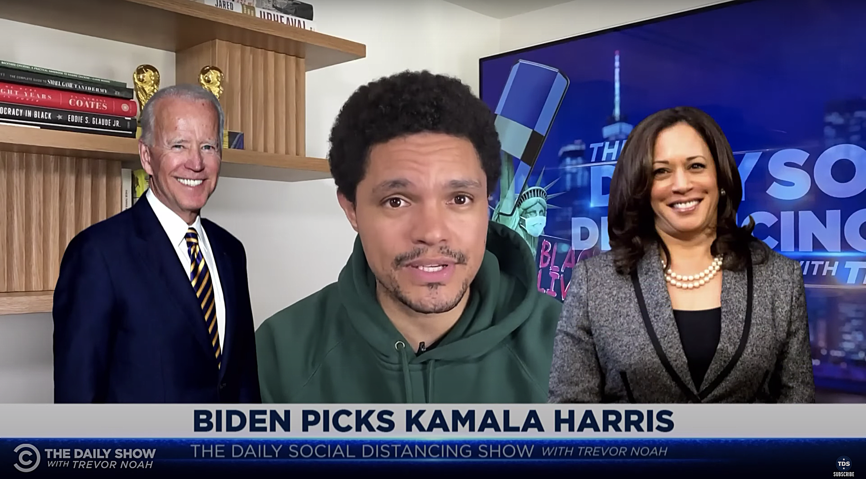 Trevor Noah Reacts to Joe Biden's Decision to Pick Kamala Harris for Vice President
