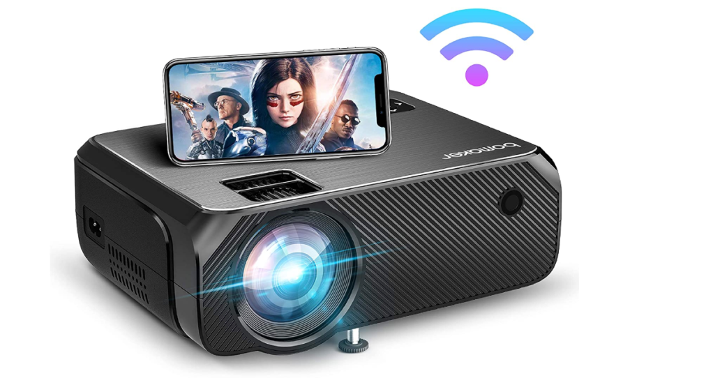 Bomaker Portable Outdoor Movie Projector, Full HD 1080P