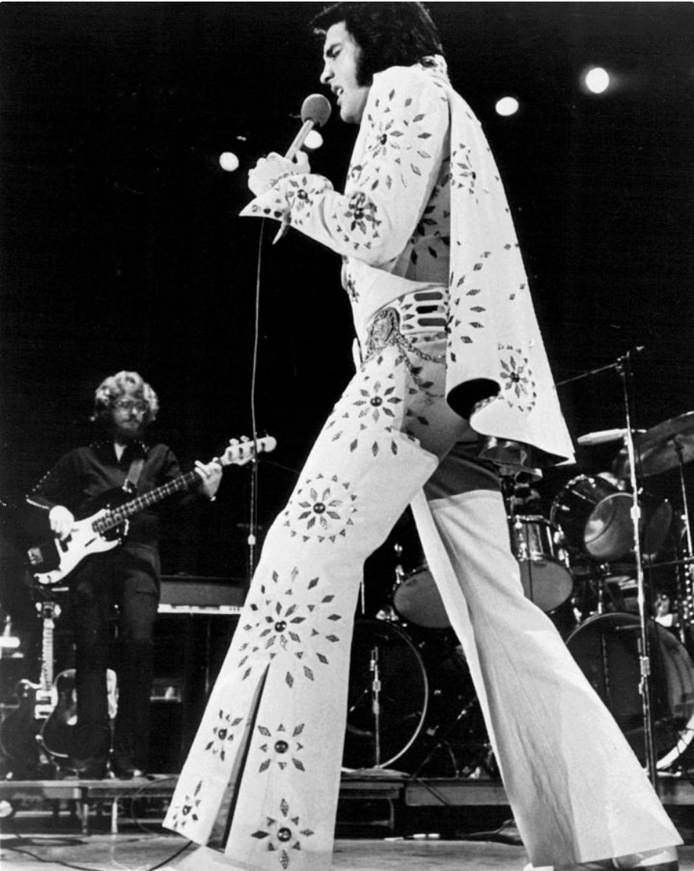 elvis performing white jumpsuit