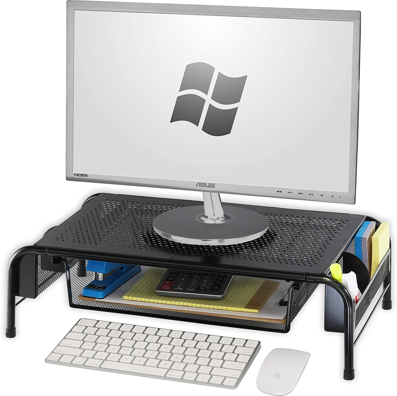 SimpleHouseware Metal Desk Monitor Stand Riser