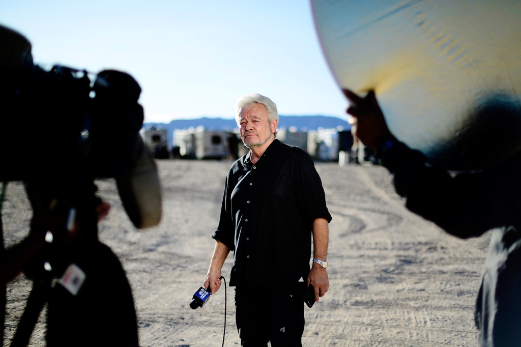 HIKO, NEVADA - SEPTEMBER 20: George Knapp attends Storm Area 51, They Can't Stop All Of Us Event on September 20, 2019 in Hiko, Nevada. (Photo by Jerod Harris/WireImage)