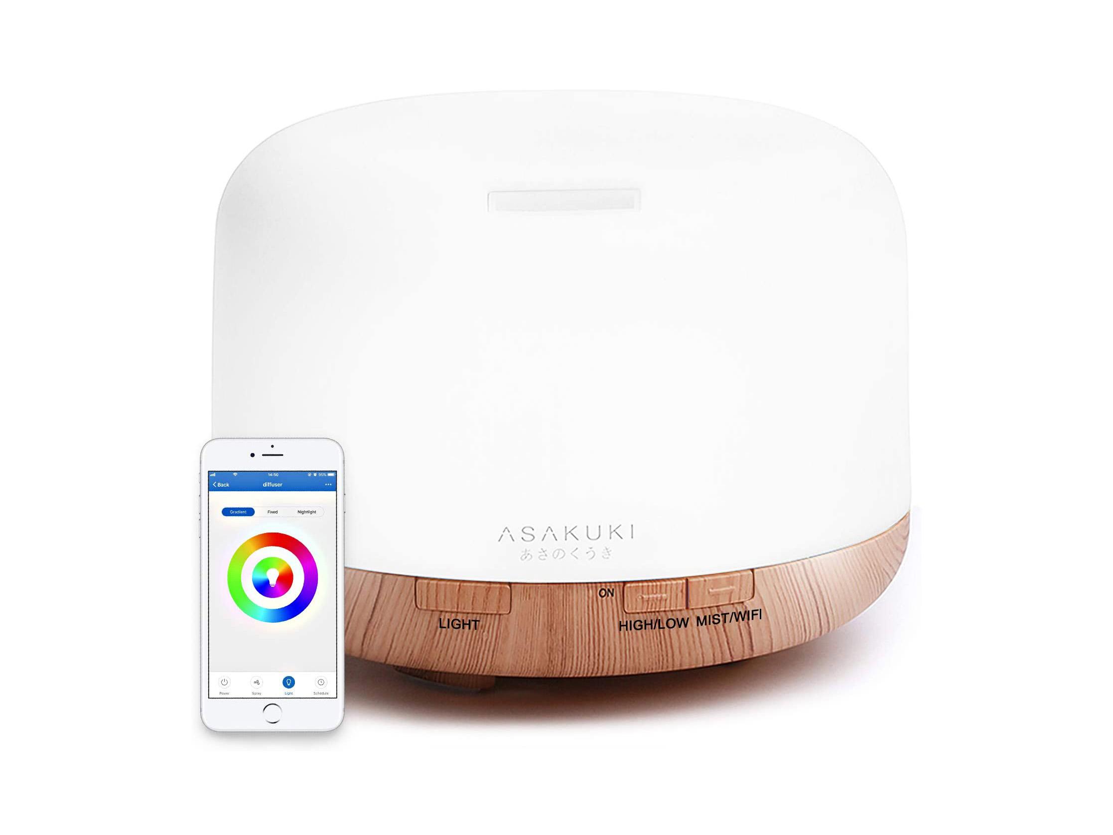 Best Meditation Products — asakuki smart wifi aromatherapy diffuser humidifier