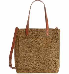 leopard print tote bag madewell