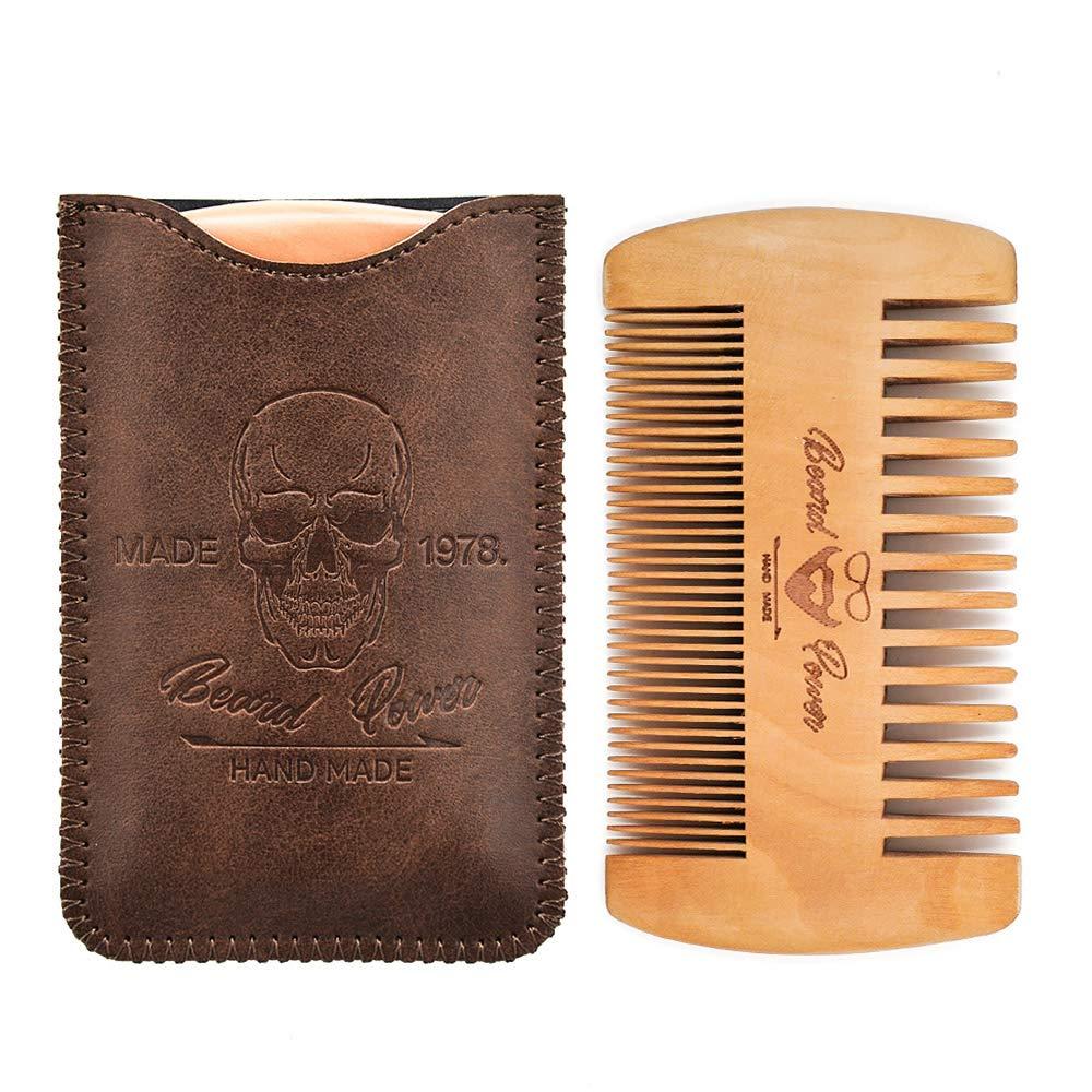 beard power wooden beard comb