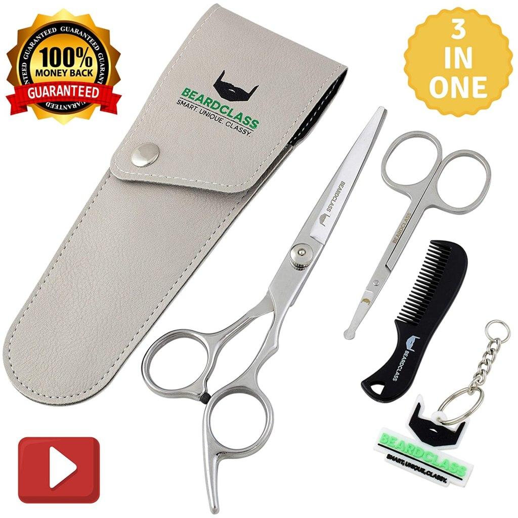 beardclass beard mustache scissors kit