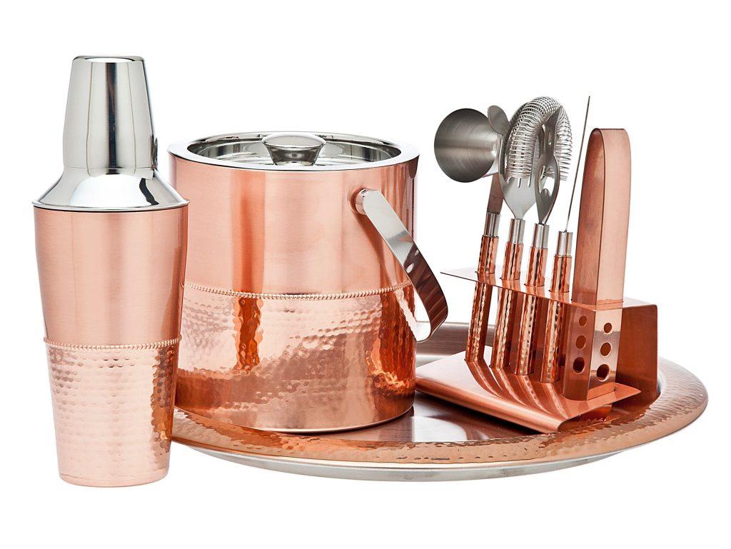 cocktail set copper