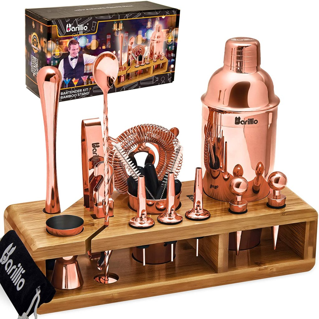 copper 23 piece bartender kit