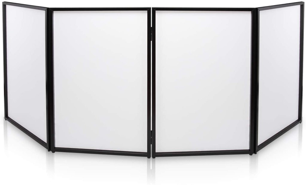 dj booth foldable cover screen