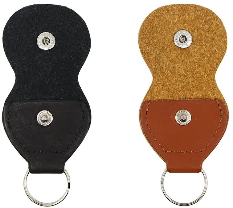 guitar pick holder case keychain
